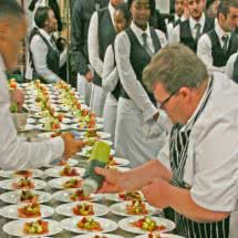 event caterers in leicestershire event catering Dimblebee Catering services at Bonhams auction Aston Martin Works 2014